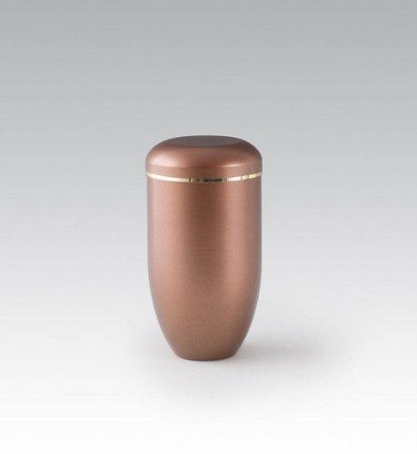 Kronos - Urne cinéraire en cuivre avec bande dorée - Dim : Cm 9,5 x h 19,0; Vol lt 1,0