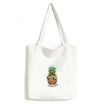 DIYthinkerSunglasses Pineapple Tropical Fruit Tote Canvas Bag Shopping Satchel Casual Handbag
