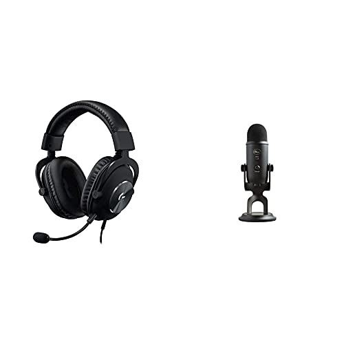 Logitech G PRO X Gaming Headset (2nd Generation) with Blue Yeti USB Mic for Recording & Streaming on PC and Mac