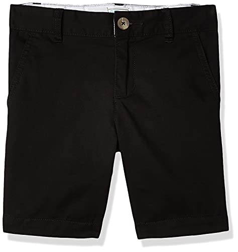 The Children's Place boys Chino Shorts, Black, 12