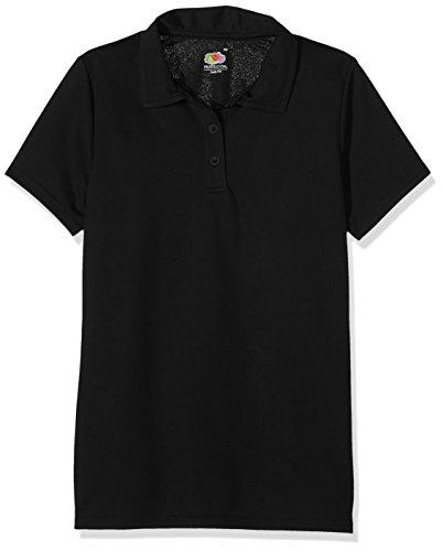 Fruit of the Loom Damen SS131M Poloshirt, Schwarz (Black), 46 (Herstellergröße: XX-Large)