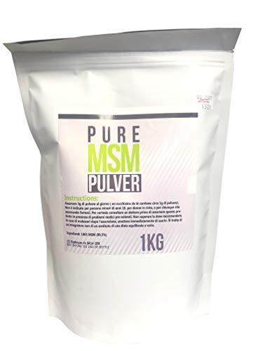 1KG Polvere Pura MSM – Ideale per le Giunture + Collagene – In un Tubetto facile da usare