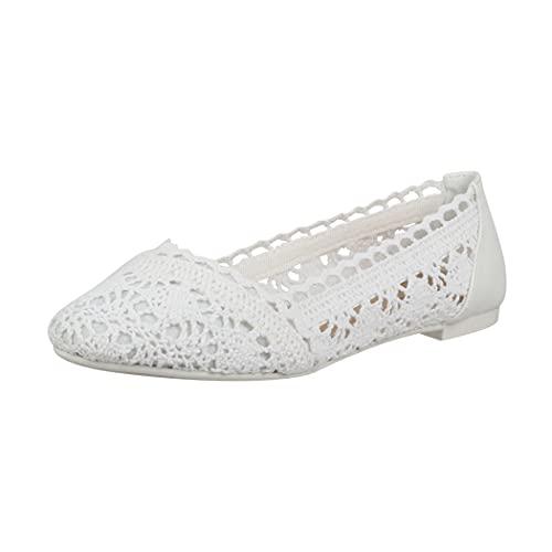 Elara Damen Ballerinas Bequem Slip-On...