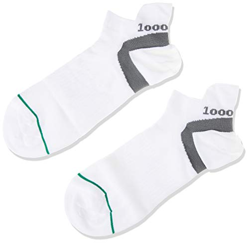 1000 Mile 1548 Trainer - Calcetines para Hombre, tamaño L (UK 9-11.5/EUR 43-45), Color Blanco