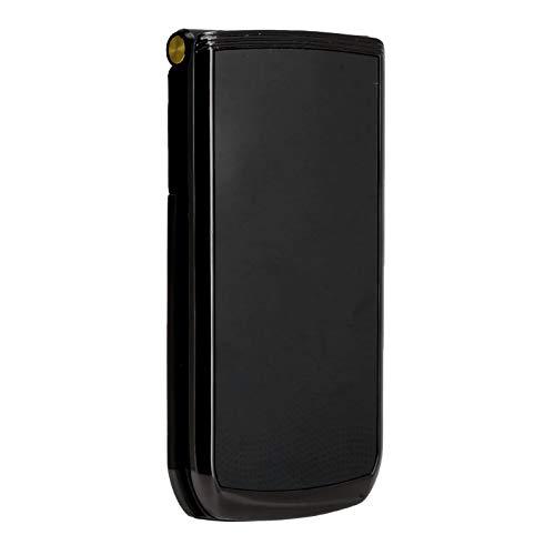 Flip - Teléfono Móvil para Personas Mayores con Pantalla de 2,4 Pulgadas, 32 MB+32 MB, Modo de Espera Prolongado, Botón Grande, Fuente Grande, Volumen Alto, Móvil para Personas Mayores (Negro)(EU)