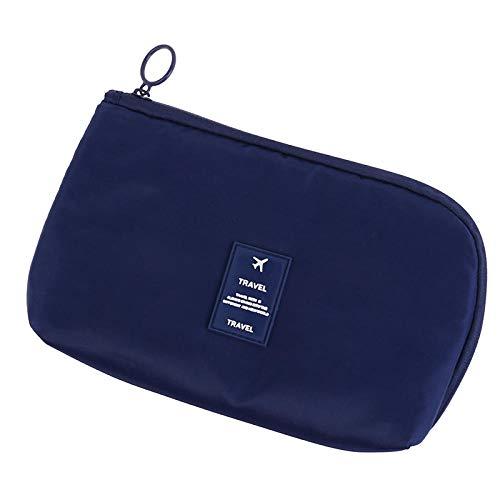 7 Styles Cosmetic Bag Travel Waterproof Portable Flamingo Makeup Bag Toiletry Women15 * 23CM-Deep_Blue_15 * 23CM