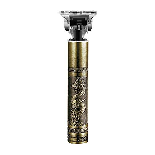 Dyna-Living Haarschneidemaschine Herren, Barttrimmer Herren, Rasierer Herren Elektrisch Profi Langhaarschneider Metal Carving Haarschneider Haartrimmer mit Batterie - Golden-2