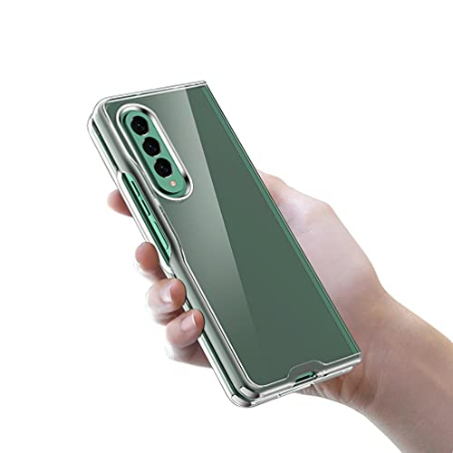 Transparent Ultra Slim Case for Samsung Galaxy Z Fold 3 Case Clear Hard PC Shockproof Cover (2PCS)