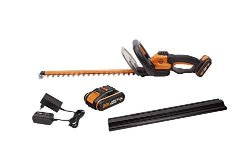 WORX WG261E.1 18V (20V MAX) Cordless 45cm Hedge Trimmer with 2 Batteries