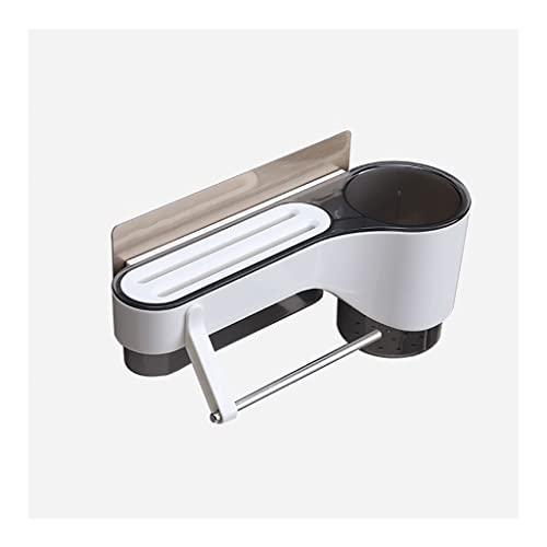 Portacuchillos cocina Titular de la cuchilla Rack Punzonamiento libre Palillos Cuchillo Almacén de almacenamiento Cuchillo montado en la pared Soporte de cuchillo de cocina multifuncional Bloque cuchi