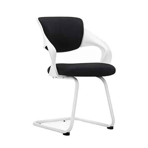 Chaise de Bureau Pied d'arc Chaise D'ordinateur Blanc À La Maison Chaise Dortoir Étudiant Chaise Design Ergonomique Chaise Taille Accoudoir Fixe, Super Charge (Color : Blanc, Size : 50 * 50 * 84cm)