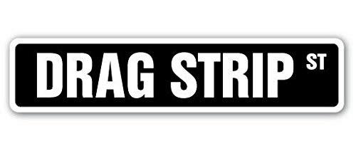 TammieLove Drag Strip Straßenschild, Rennstrecke, Autos Muskel, schnell, für drinnen und draußen, 40,6 x 10,2 cm