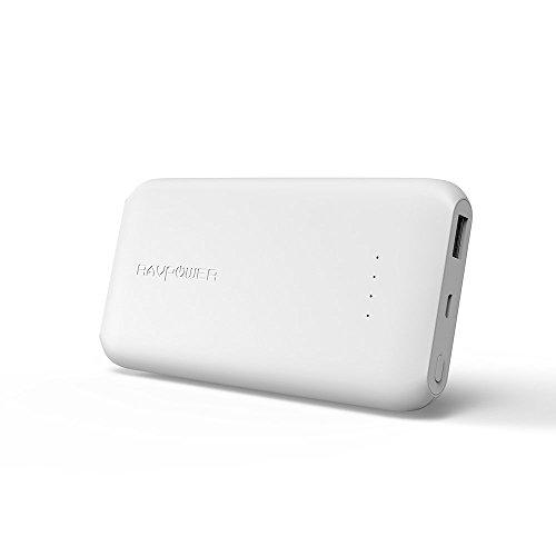 RAVPOWER Bateria Externa 10000mAh Ultra-Delgado con Carga Rápida 3.0 de Entrada y Salida, Baterías de Polímero de Litio de Alta Densidad para el iPhone X / 8 Plus / 8, Galaxy S8 / Note8 y Más
