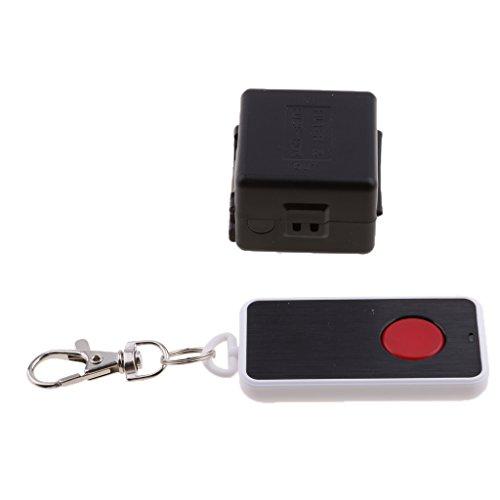 perfk Interruptor de Control Remoto Inalámbrico Multifunción Negro de 1 Tecla para Ventana