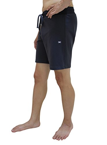 YogaAddict Yoga Shorts for Men, Quick Dry, No Pockets, for Any Yoga , Pilates, Gym, Grey with Inner Liner - Size XL