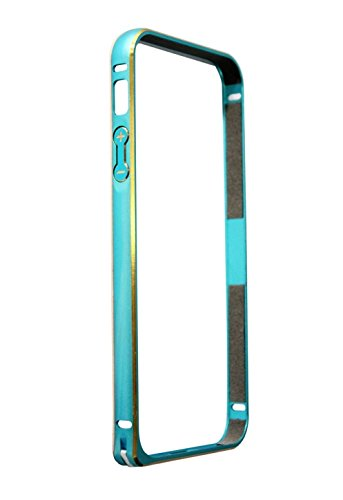 Gioiabazar Luxury Ultra Thin Metal Aluminum Alloy Bumper Frame Case Cover for Apple iPhone 4 4S Blue