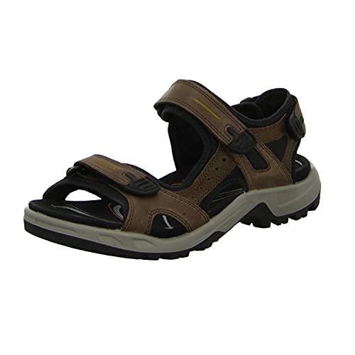 ECCO Men's Offroad Hiking Sandal Sport, Espresso/Cocoa Brown/Black Nubuck, 11-11.5