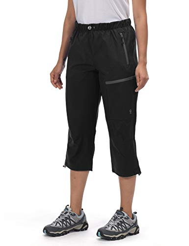 Little Donkey Andy - Pantaloni a 3/4 da donna, ad asciugatura rapida, leggeri, per trekking, viaggi e stile casual, Donna, Capri-nero, Medium