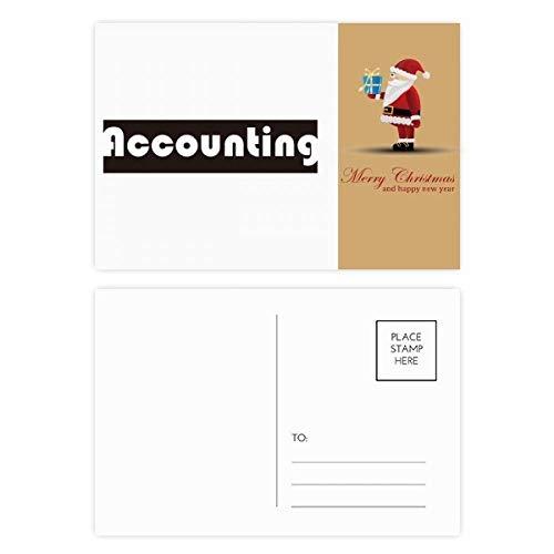 Kurs und Major Buchhaltung, schwarzer Weihnachtsmann, Postkarten-Set, Dankeskarten, 20 Stück