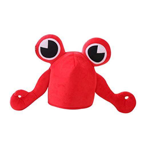 BESTOYARD Halloween Krabben Hut lustige große Augen Plüsch Krabben Kopfbedeckungen für Kinder Erwachsene Dress Up Party Kostüm Zubehör