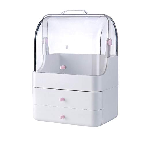 Boîte de Rangement cosmétique Pinceau de Maquillage Simple (Color : Pink, Taille : 26 * 19 * 36CM)
