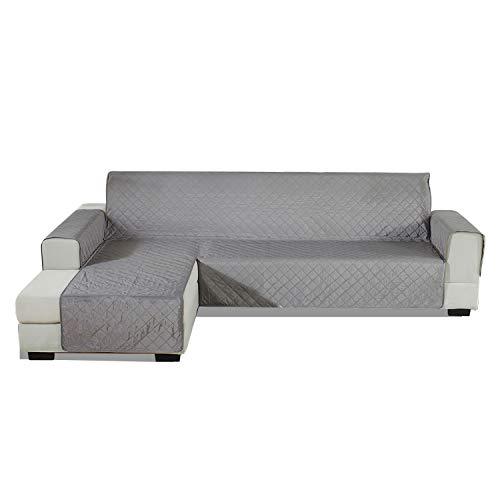 PETCUTE Funda Sofa Chaise Longue Acolchada Protector de sofá con Chaise Izquierda Cubre Chaise Longue Fundas sofá Impermeables 240x270cm