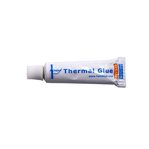 1 pcs Colla Termica Tubetto 10g HALNZIYE HY910 Bianco  0,975 W/m-K Range Temperatura -60 +250 °C Contenuto Totale 10g Adesivo Termico Thermal Glue Raffreddamento