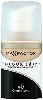 マックスファクターの色は、基礎クリーミーな象牙40を適応させます x4 - Max Factor Colour Adapt Foundation Creamy Ivory 40 (Pack of 4) [並行輸入品]