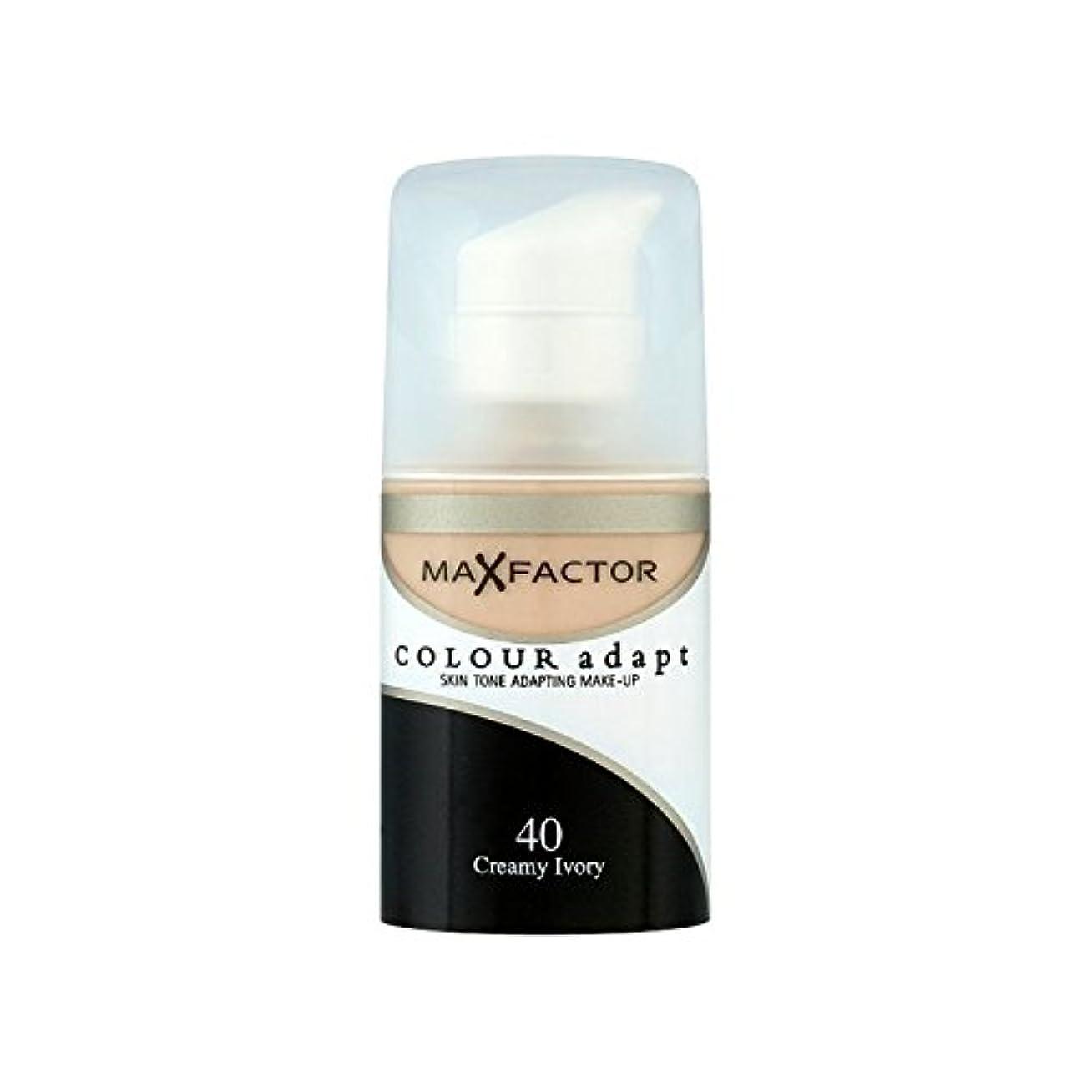 遊び場突き出す買い手マックスファクターの色は、基礎クリーミーな象牙40を適応させます x4 - Max Factor Colour Adapt Foundation Creamy Ivory 40 (Pack of 4) [並行輸入品]