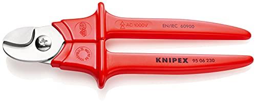 KNIPEX Tijeras cortacables mangos con revestimiento de plástico aislado 1000V (230 mm) 95 06 230