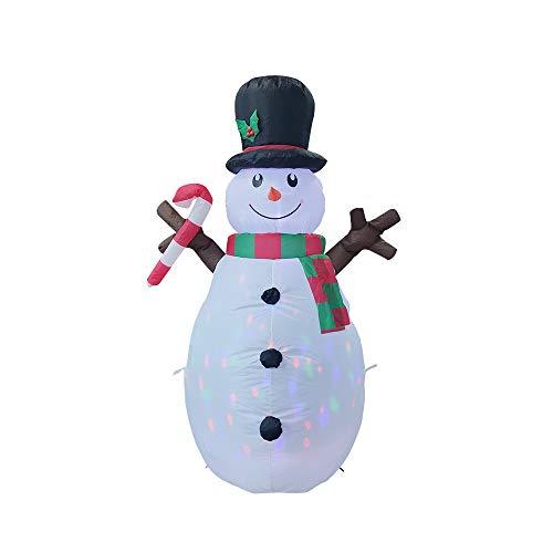 Iycorish Linterna de MuuEco de Nieve Inflable de Navidad de 1,6 M, DecoracióN Luminosa para Interiores y Exteriores, Enchufe de la UE