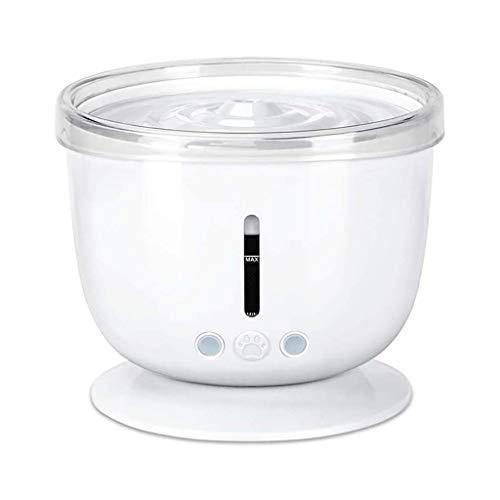 Fuente de agua para gatos, dispensador automático de agua de 1,2 l, dispensador de agua para mascotas con ventana de nivel de agua, filtro cuádruple (color: B)