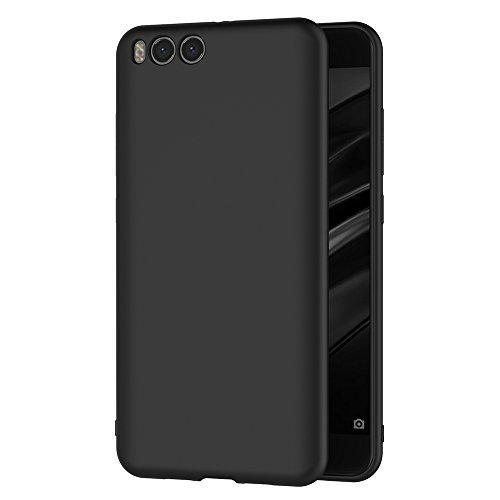 AICEK Funda Xiaomi Mi 6, Negro Silicona Fundas para Xiaomi Mi6 Carcasa Xiaomi Mi 6 Negro Silicona Funda Case (5.15