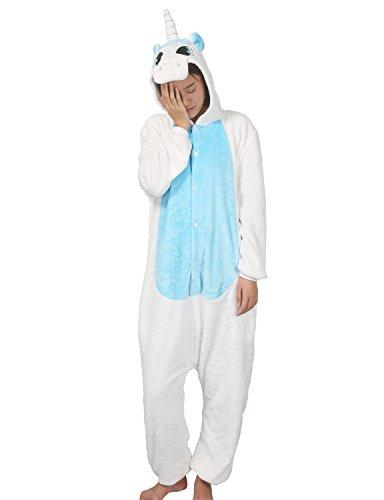 Luojida - Pijama de una Pieza - para Mujer Turquesa Medium (155-168 cm)