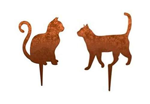 Menovus Katzen laufend und sitzend, 2er Set