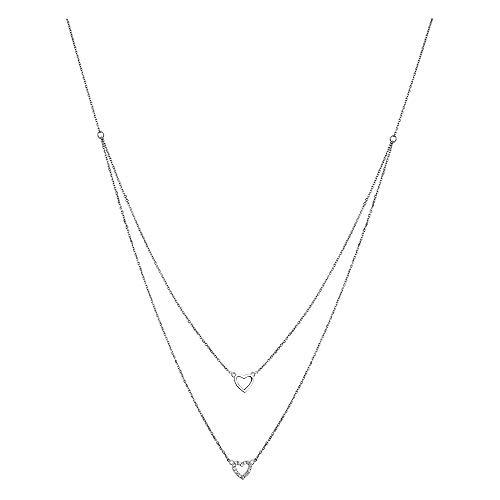 LOTUS Silver Collar de corazón blanco LP1516-1/1 circonita 925 plata JLP1516-1-1