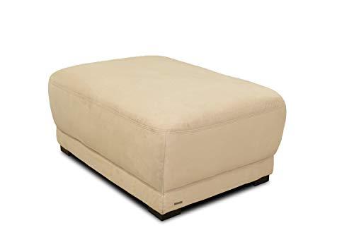 Domo Collection Boxspringsofa Telos / Hocker mit Boxspringfederung / Beistellhocker für Couch / Maße: 109/78/46 cm (B/T/H) / Farbe: beige (hell)