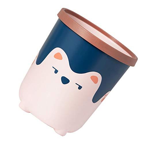 Cabilock Pequeño Cubo de Basura Mini Papelera de Escritorio Pequeño Cesto de Basura Pequeño Cubo de Basura de Alimentos para La Encimera de La Cocina Baño Superior