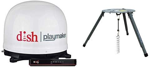 Winegard PL7000R Dish Playmaker Portable Antenna with Wally HD Receiver & Portable Tripod Mount
