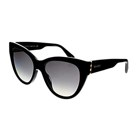 Fashion Shopping Gucci Sunglasses GG 0460 S- 001 Black/Grey Gold