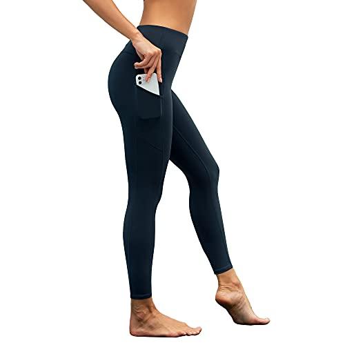 Woolicity Leggings Donna Sportivi Leggins Anticellulite Pantaloni Vita Alta Opaco Yoga Pants Controllo della Pancia Fitness Push Up