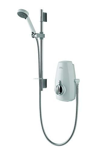 Aqualisa Aquastream Thermo mixer shower with adjustable head - White/Chrome
