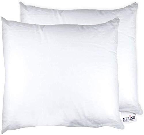MERINO BETTEN Premium Kopfkissen 80x80 Set | Couchkissen | Kissenhülle versteppt ohne Reißverschluss | Serie Standard