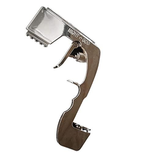 N\C Pistola de champán con pulverizador Bubbly Blaster The Beer Blaster para champán, tapón de vino, expulsor de cerveza para bodas, celebraciones de cumpleaños (plata A)