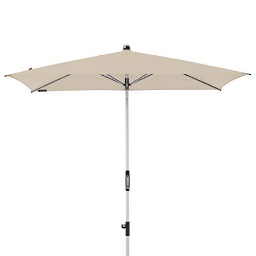 Knirps Sonnenschirm Automatic - Rechteckiger Kurbelschirm - Modernes Design - Starker UV-Schutz - 230x150 cm - Natur