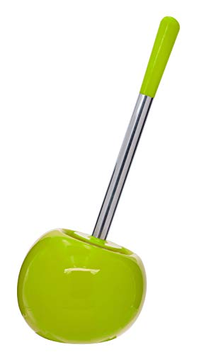 Ridder 2113405 Belly - Escobilla de baño (cerámica), Color Verde