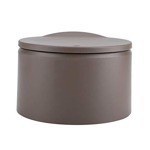 HERCHR Doppelschicht Mülleimer, Mini Mülleimer Mülleimer für Home Office Badezimmer(Braun)