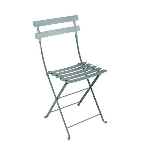 Bistro by Fermob JMJ1091014 Bistro - 2 sillas Plegables de Acero Lacado, Color Gris