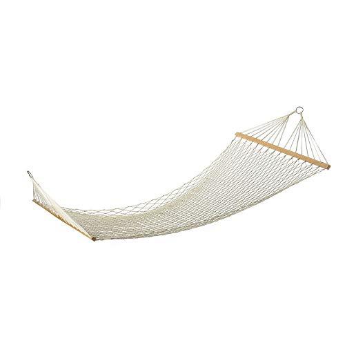 L.Z.HHZL Hamaca Blanco al Aire Libre de Malla de algodón oscilación de la Cuerda Hamaca Cama Colgante for Adultos Cuentos for niños Patio Jardín