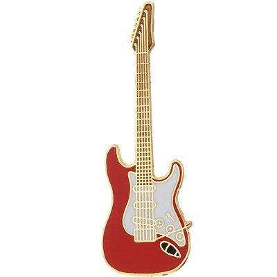 ストラト ギター ミニピン 赤 Electric Guitar Mini Pin clefgifts